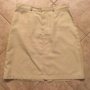 Dockers cotton khaki skirt